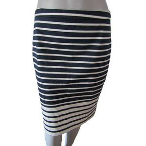 J Crew Navy and White Striped Pencil Skirt 2